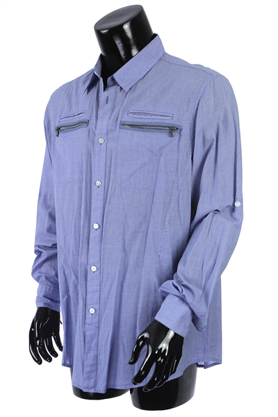 2000s William Shatner Worn John Varvatos Long Sleeve Button Up Shirt (Shatner LOA/MEARS LOA)