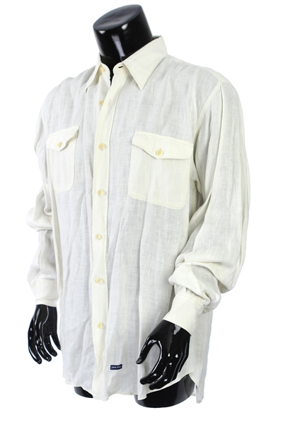 2000s William Shatner Worn Paul Trabaud Long Sleeve Button Up Shirt (Shatner LOA/MEARS LOA)