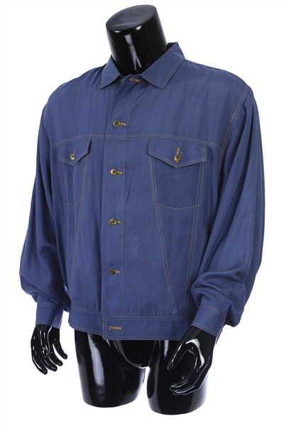 2000s William Shatner Worn Men Go Silk Long Sleeve Button Up Shirt (Shatner LOA/MEARS LOA)