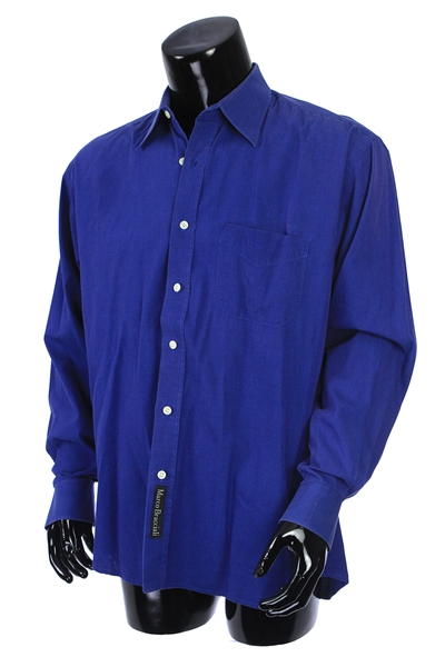 2000s William Shatner Worn Marco Bracciali Long Sleeve Button Up Shirt (Shatner LOA/MEARS LOA)