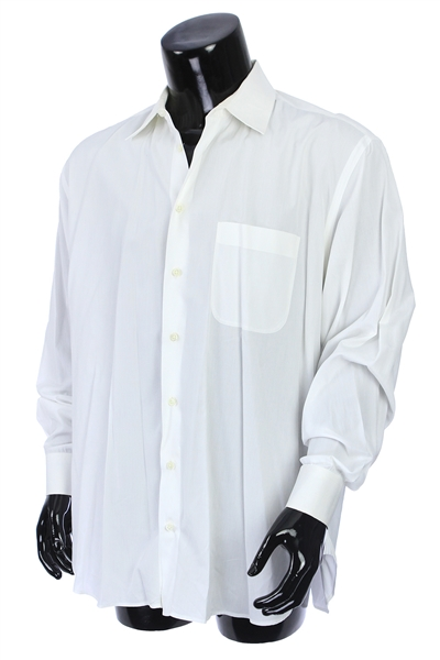 2000s William Shatner Worn Armani Long Sleeve Button Up Shirt (Shatner LOA/MEARS LOA)