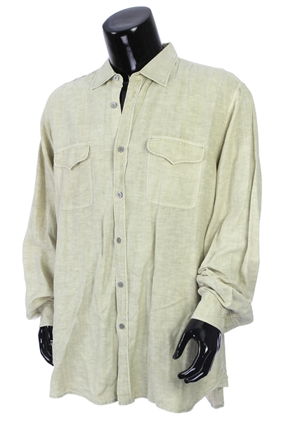 2000s William Shatner Worn Ryan Michael Long Sleeve Button Up Shirt (Shatner LOA/MEARS LOA)