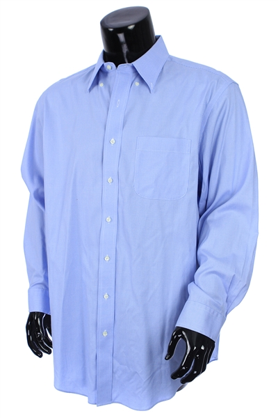 2000s William Shatner Worn Jos. A. Bank Long Sleeve Button Up Shirt (Shatner LOA/MEARS LOA)