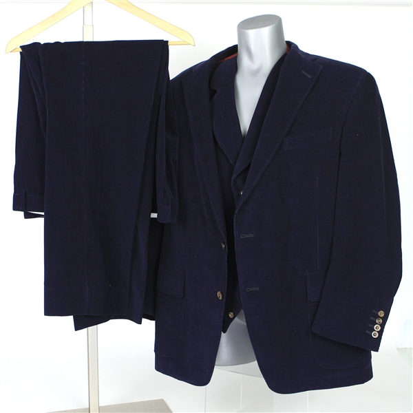 2000s William Shatner Worn Carroll & Co. Full Corduroy Suit w/ Sport Coat, Vest & Pants (Shatner LOA/MEARS LOA)