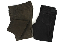 2000s William Shatner Worn Adriano Goldschmied Corudroy Pants Collection - Lot of 2 (Shatner LOA/MEARS LOA)