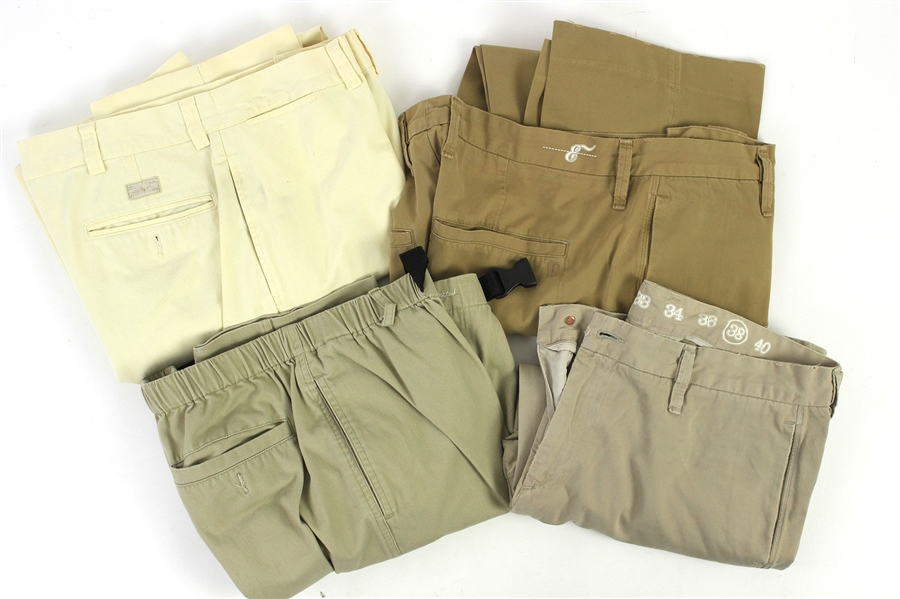 2000s William Shatner Worn Khaki Pants Collection - Lot of 4 w/ TravelSmith, Earnest Sewn & Polo (Shatner LOA/MEARS LOA)