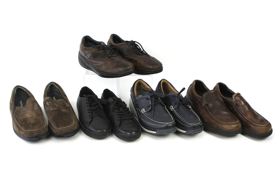 2000s William Shatner Worn Leather Loafer & Casual Shoes Collection - Lot of 5 Pairs w/ Joya, Rockport, Hush Puppies & Trail (Shatner LOA/MEARS LOA)