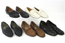 1980s William Shatner Worn Leather Loafer Collection - Lot of 5 Pairs w/ Cable & Co., Bally, Lorenzo Banfi & Prada (Shatner LOA/MEARS LOA)