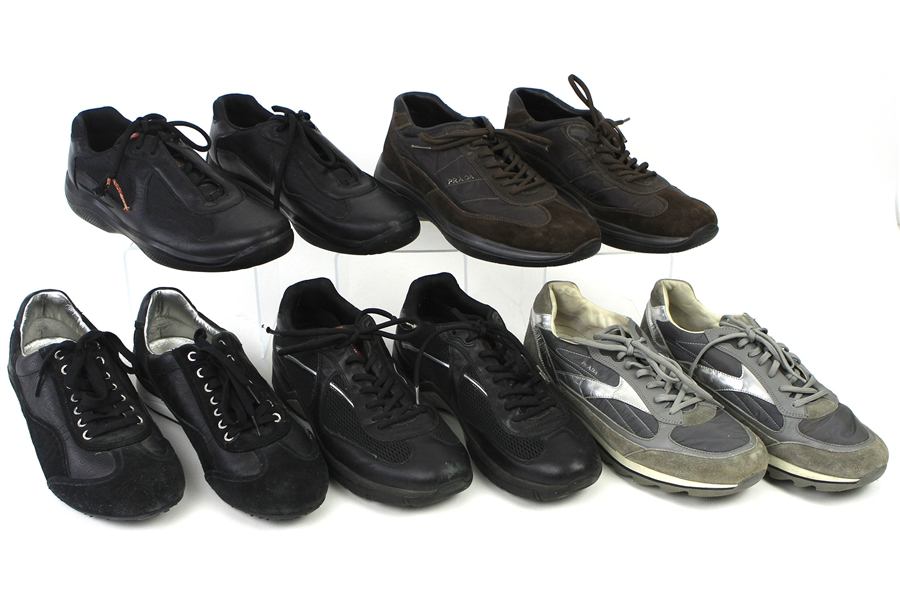 2000s William Shatner Worn Casual Shoes Collection - Lot of 5 Pairs w/ Prada and Dolce & Gabana (Shatner LOA/MEARS LOA)