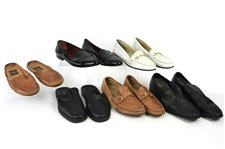 1980s-1990s William Shatner Worn Leather Loafer & Slip On Collection - Lot of 6 Pairs w/ Donna Karan, Aldo Brue, Gucci, Bally & Cole Haan (Shatner LOA/MEARS LOA)