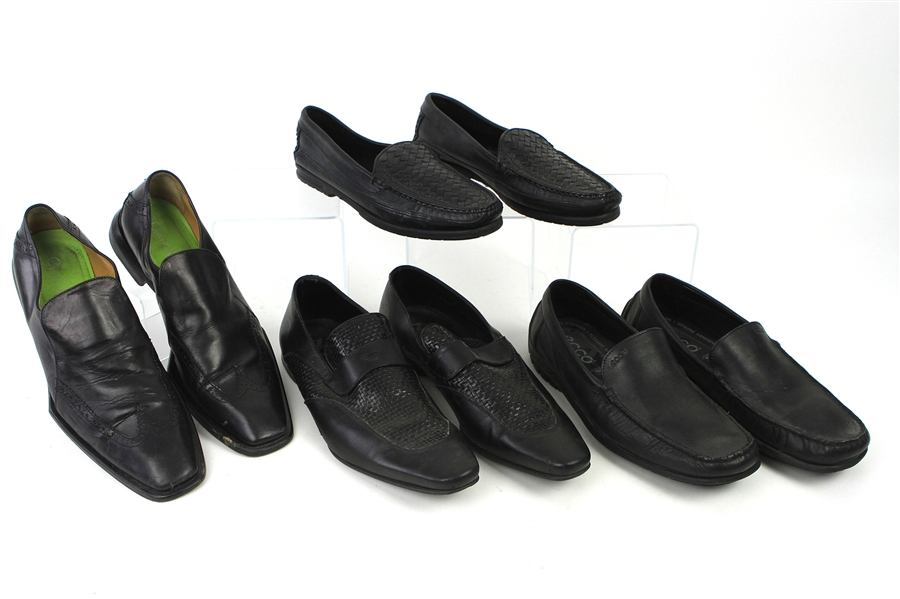 2000s William Shatner Worn Leather Loafer Collection - Lot of 4 Pairs w/ Giorgio Brutini, Ecco, Oliver Sweeney & Zegna (Shatner LOA/MEARS LOA)