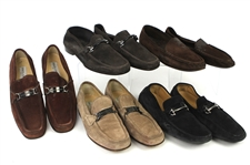 1990s William Shatner Worn Suede Loafer Collection - Lot of 5 Pairs w/ Dolce & Gabbana, Carvela, Cole Haan & Ermenegildo Zegna (Shatner LOA/MEARS LOA)