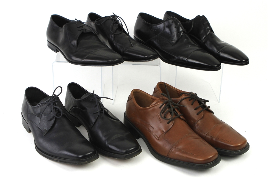 1990s-2000s William Shatner Worn Leather Dress Shoes Collection - Lot of 4 Pairs w/ Artioli, Boss, Coach & Ecco (Shatner LOA/MEARS LOA)