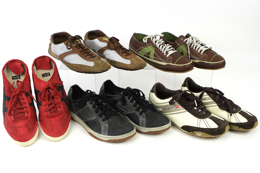 2000s William Shatner Worn Casual Shoes Collection - Lot of 5 Pairs w/ Onitsuka Tiger, Diesel, PF Flyers & Prada (Shatner LOA/MEARS LOA)