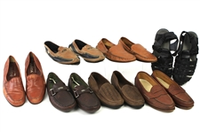 1990s-2000s William Shatner Worn Leather Loafer & Sandal Collection - Lot of 7 Pairs w/ Giorgio Brutini, Mephisto, HS Trask, Daniele Lepori, Varda & Apache (Shatner LOA/MEARS LOA)