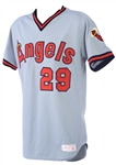 1985 Rod Carew California Angels Game Worn Road Jersey (MEARS A10)
