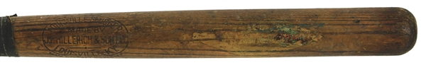 1911-16 JF Hillerich & Son Co. Louisville Slugger Professional Model Decal Bat (MEARS LOA)
