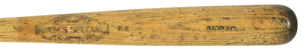 1920s Stephen Krens Special Hand Turned Professional Model Bat (MEARS LOA)