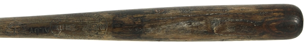 "1920s Weather Seasoned Bone Rubbed H&B Louisville Slugger 250 ""Aloy"" Stamped Blank Barrel Bat (MEARS LOA)"