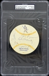 "1951-1954 Jim Wilson (No Hitter Pitcher), Don Money Milwaukee Brewers Signed 4"" Cut (PSA/DNA Slabbed)"