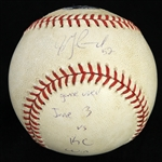 2002 (June 3) Jon Garland Chicago White Sox Signed OML Selig Game Used Baseball (MEARS LOA/JSA)