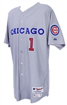 2015 (April 24) Gary Jones Chicago Cubs Game Worn 1990 Throwback Road Jersey (MEARS A10/MLB Hologram)