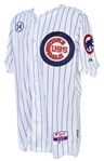 2015 (July 4) Mike Baxter Chicago Cubs Game Worn 4th of July Home Jersey (MEARS LOA/MLB Hologram)
