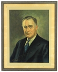 "1933 Franklin Delano Roosevelt 32nd President of the United States 17"" x 21"" Framed Lithograph"