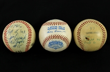1974-91 Game Used & Signed Baseball Collection - Lot of 3 w/ Comiskey Park Inaugural Year & More (MEARS LOA)