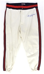 1982 Reggie Jackson California Angels Signed Game Worn Home Uniform Pants (MEARS LOA/JSA)