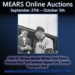 1960-67 Mickey Mantle Whitey Ford Elston Howard New York Yankees Signed OAL Cronin Baseball (JSA)
