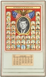 "1961 John F. Kennedy 35th President of the United States 10"" x 16.5"" Wall Calendar"