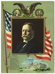 "1912 William Howard Taft 27th President of the United States 12"" x 16"" Biography Litho w/ Moffett Studio Portrait"