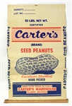 1960s Jimmy Carter 39th President of the United States Carters Brand Seed Peanuts 50 Pound Bag