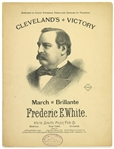 1892 Grover Cleveland 22nd President of the United States Clevelands Victory March Brillante Sheet Music