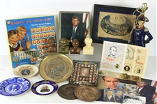 1890s-1980s Presidential Memorabilia Collection - Lot of 30 w/ George Washington, Abraham Lincoln, Theodore Roosevelt, John F. Kennedy & More