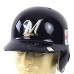 2005 Chris Magruder Milwaukee Brewers Signed Game Worn Batting Helmet (MEARS LOA/JSA/MLB Hologram)