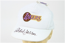 1980s Kareem Abdul Jabbar Los Angeles Lakers Signed Corduroy Cap (JSA)