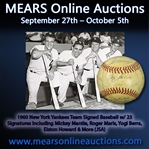 1960 New York Yankees Team Signed Baseball w/ 23 Signatures Including Roger Maris, Yogi Berra, Elston Howard & More (JSA)
