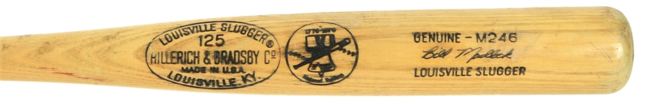 1976 Bill Madlock Chicago Cubs Signed & Inscribed H&B Louisville Slugger Professional Model Game Used Bat (MEARS A8/JSA) NL Batting Champ Season