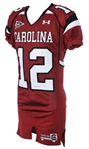 2008-11 CC Whitlock South Carolina Gamecocks Game Worn Home Jersey (MEARS LOA)