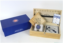 2016 Chicago Cubs Original Grain Limited Edition Wrigley Field Wooden Seat Watch w/ Display Case (Original Grain COA) 1964/2016
