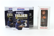 2000s-10s Prince Fielder Andrew Bogut Milwaukee Brewers Bucks MIB Bobbleheads - Lot of 4