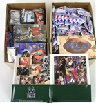 1990s Basketball Baseball Football Trading Card Unopened Pack Collection - Lot of 500+