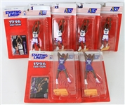 1996-97 Glenn Robinson Vin Baker Milwaukee Bucks Signed MOC Starting Lineup Figures - Lot of 6 (JSA) + 8 Mini Glenn Robinson Figures
