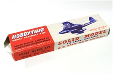 1950s Hobby Time Gloster Meteor-8 Model Assembly Kit w/ Original Box