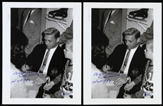 "2000s Bobby Hull Chicago Blackhawks Signed 8"" x 10"" Photos - Lot of 2 (Beckett)"