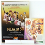 "1980s-90s NBA Poster Collection - Lot of 9 w/ Kareem Abdul Jabbar, NBA at 50 27"" x 39"" Framed & More"