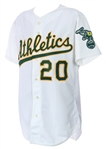 1989 Matt Young Oakland Athletics Game Worn Home Jersey (MEARS LOA)