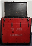 1930s-1940s St. Louis Cardinals Train Travel Equipment Trunk